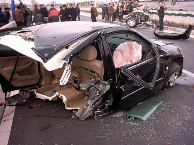 广州本田车祸图片一览